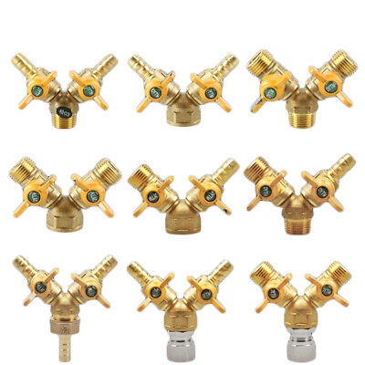 AU14.69 • Buy Brass 1/2  Male/Female Thread Barb Hose Joiner Connector 3-Way Gas Ball Valve