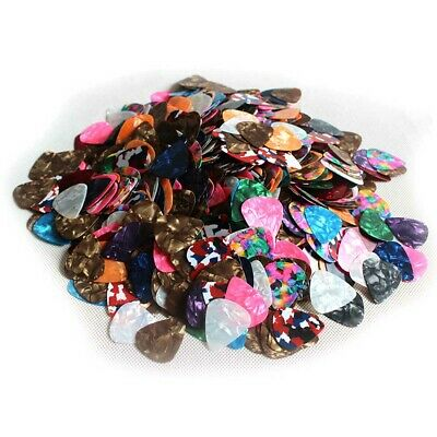 $ CDN9.53 • Buy 100pcs Guitar Picks Celluloid Thin Acoustic Electric Plectrums Colorful 0.46MM