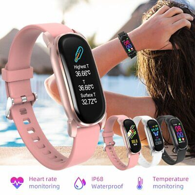 AU40.26 • Buy Waterproof Smart Watch Bracelet Women Temperature Health Monitor For IOS Android