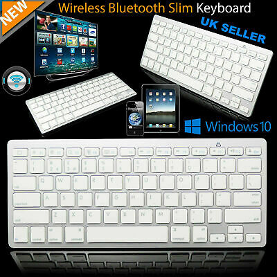 New Slim Wireless Bluetooth Keyboard For Imac Ipad Android Phone Tablet Pc • 9.89£