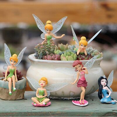 6Pcs Tinkerbell Fairies Princess Action Figures Doll Toy Kids Children Xmas Gift • 4.74£