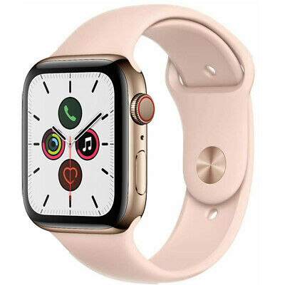 $ CDN420.25 • Buy Apple Watch Series 5 40mm GPS Cellular Stainless Steel Gold Case Pink Sport Band