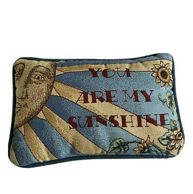 You Are My Sunshine Tapestry Throw Pillow Needlepoint Rectangle Sun • 13.33£