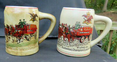 $ CDN124.13 • Buy A-B BUDWEISER CLYDESDALES 1980 & 1981 Holiday Steins CS19 And CS19a CERAMARTE
