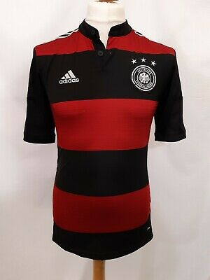 Retro Adidas Germany Away Shirt - Size S - 2014 World Cup - Red & Black Stripes • 24.47£