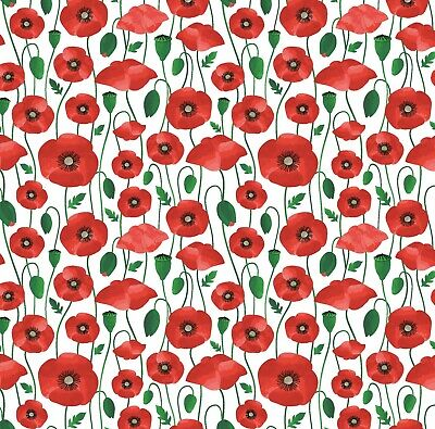 £4.50 • Buy Beautiful Red Poppy Wrapping Paper Sheet,Mothers Day Wrapping Paper,Floral Wrap