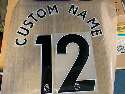 £21 • Buy BLACK PLAYER Premier League Custom Name & Number Set Any Combination Size