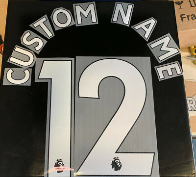 £13 • Buy WHITE PLAYER Premier League Custom Name & Number Set Any Combination Size