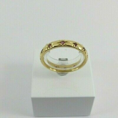 £348 • Buy  18ct Gold Ruby Eternity Ring Full Hallmarked Size P With Gift Box