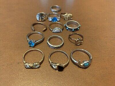 $ CDN39.10 • Buy Vintage  Jewelry Rings Lot Of 13 Ready To Ware