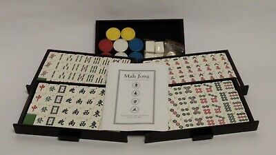 $23.99 • Buy Chinese Mah-Jong 5 Drawer 144 Tile Game Set With Accessories (box Missing Lid)