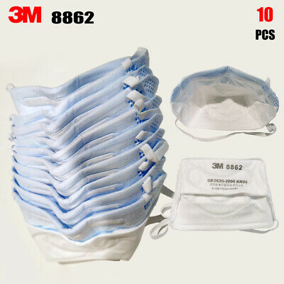 AU59.99 • Buy 10PCS 3M 8862 N95 KN95 P2 FFP2 Particulate Respirator Face Mask Headband