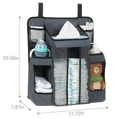New Baby Nursery Organiser Tidy Storage Nappies Changing Holder Gift Set Cot Bed • 13.89£