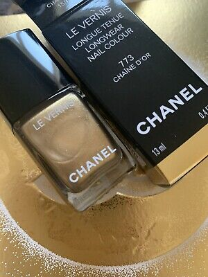 Chanel Le Vernis Chaine D'or 773 Nail Colour Christmas 2020 New Boxed Ltd • 21.50£