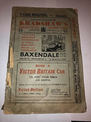 Vintage 1960 Bradshaws Manchester ABC Railway Guide 2nd May 12th June Timetable • 24.90£