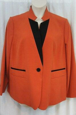 $ CDN78.20 • Buy Nine West Blazer Sz 20W Sienna Orange Black Autumn Foliage Business Jacket