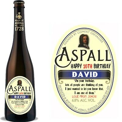 £2.79 • Buy Personalised Aspall Cider Wine Bottle Label For Birthday Christmas Any Occasion