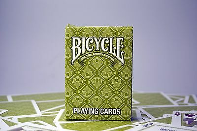 Bicycle Poker Playing Cards Green Peacock Deck Sealed New. • 5.99£