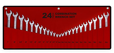 $ CDN47.35 • Buy Best Value 24-Piece Master Combination Wrench Set With Roll-up Storage Pouch | &