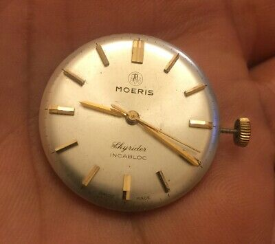 $ CDN65.33 • Buy Vintage Dial And Movement Of Moeris Skyrider   Manual Watch For Parts