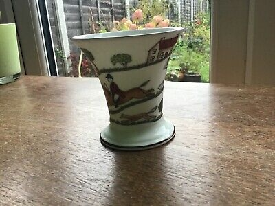COALPORT - HUNTING SCENE - Fine Bone China Small Posy  Vase • 6£