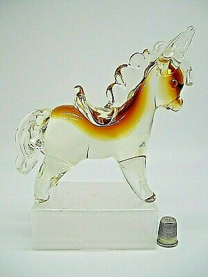 Vintage Murano Venetian Sommerso Glass Donkey Pony Horse 6  Highly Collectable • 33£