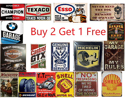 Vintage Signs Metal Plaque- Garage Signs • 7.99£