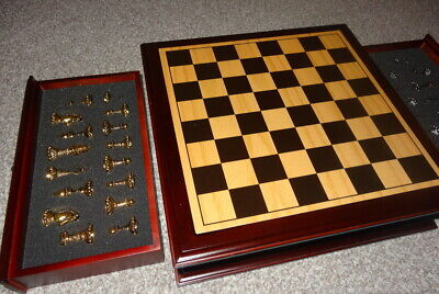 Shudehill Gold Silver Metal Boxed Chess Set - New  -ideal Gift • 240£