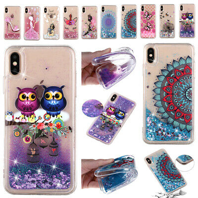 AU15.63 • Buy Patterned Glitter Dynamic Quicksand TPU Case For IPhone 12 Pro 11 6 7 8+ XS Max