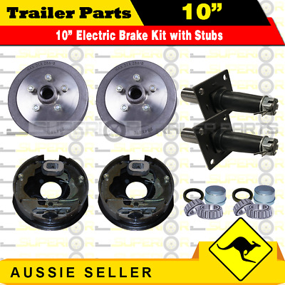 AU289 • Buy 5 Stud 10  Trailer Electric Brake Kit & 45MM Sleeve Stub Axles. Caravan, Camper