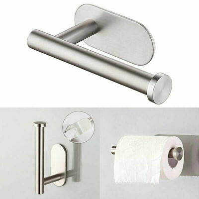 AU14.58 • Buy Stainless Steel Toilet Roll Paper Holder Punch-free Adhesive Wall Mounted