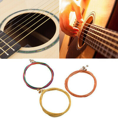 $ CDN2.44 • Buy Set Of 6pcs Guitar Strings Replacement Steel String For Acoustic Guitar