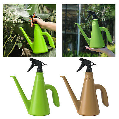 AU12.94 • Buy 1L Plastic Watering Can Pot Small Mist Spray Bottle For Indoor Outdoor Plants