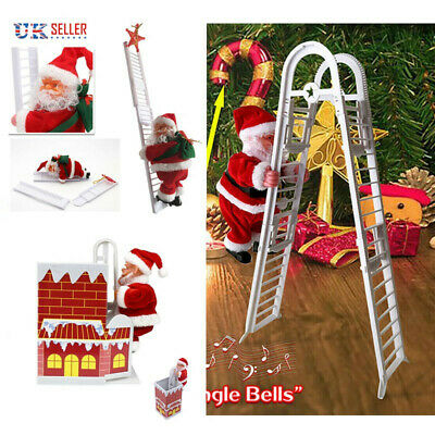 £11.86 • Buy Electric Santa Claus Climbing Ladder Chimney Christmas Tree Decoration Gifts
