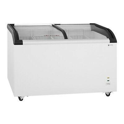 Commercial Chest Freezer Cooling Device Ice Sliding Door Refrigerator 355L • 819£