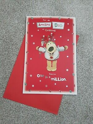 Boofle Christmas, Xmas Greeting  Card - For My Amazing Dad.  Approx 9  X 5.75  • 2.99£