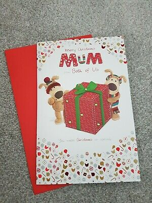 Boofle Merry Christmas Mum From Both Of Us  Christmas, Xmas Greeting Card • 3.49£