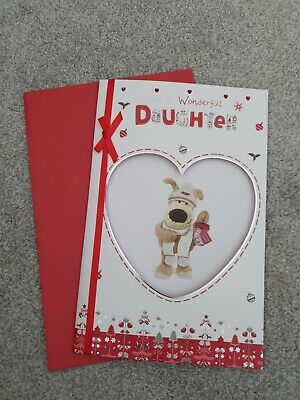 Boofle Wonderful  Daughter Christmas Greeting Card Foiled Xmas Cards 10  X 6.5  • 3.49£