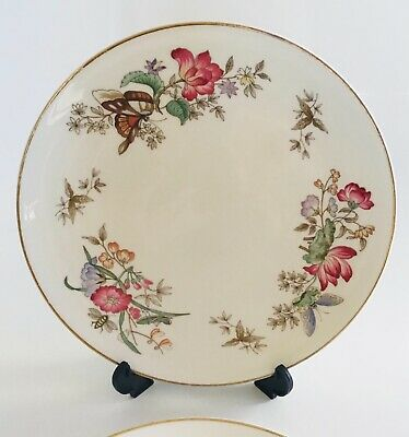 """£9.99 • Buy Wedgwood Bone China Sandon 4010 Decorative Plate 9.5"""" Butterfly Floral"""