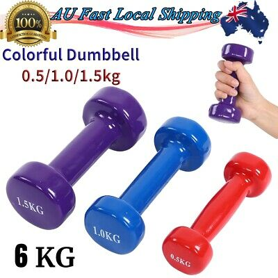 AU42.91 • Buy 6KG Anti-Slip Dumbbell Weights Set Exercise Fitness Home Gym Workout AU Seller