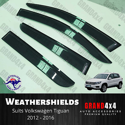 AU52 • Buy Weathershields Window Visors Tinted To Suit Volkswagen VW Tiguan 2012 - 2016