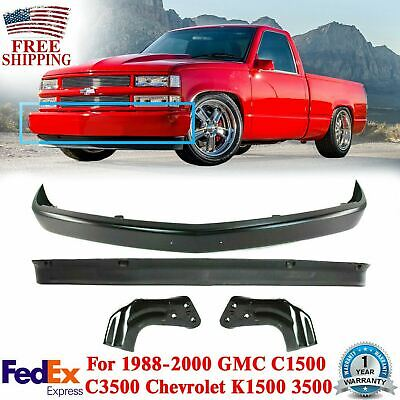 $237.83 • Buy Front Bumper Primed Steel + Lower Valance + Brackets For 94 -02 GMC C1500 Chevy