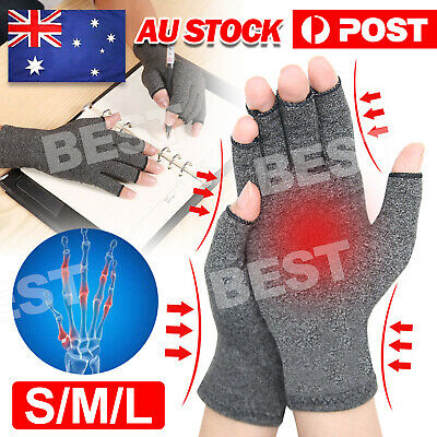 AU6.35 • Buy Compression Gloves Arthritis Gloves Hand Wrist Brace Finger Pain Relief Support