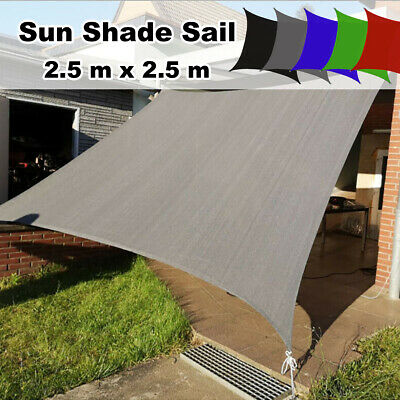 AU46.99 • Buy 2.5M X 2.5M Sun Shade Net Sail Cloth Awning Shadecloth Outdoor Canopy Square