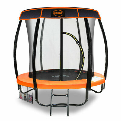 AU871.50 • Buy Trampoline 6ft With Roof Cover Orange Kahuna