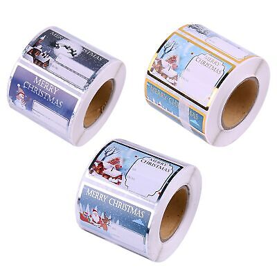 KnF Christmas Self Adhesive Gift Labels Tags Traditional Assorted Stickers Wrap • 2.75£