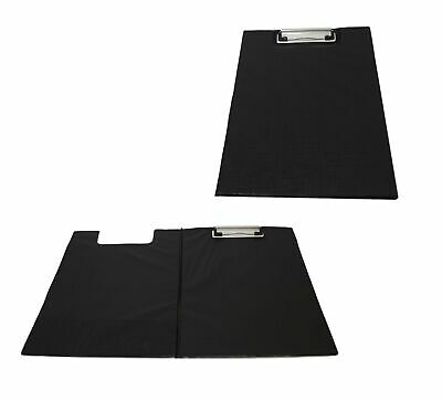 A4 Clipboard Solid Single Fold Over New Office Field Work Document Holder Black • 2.99£