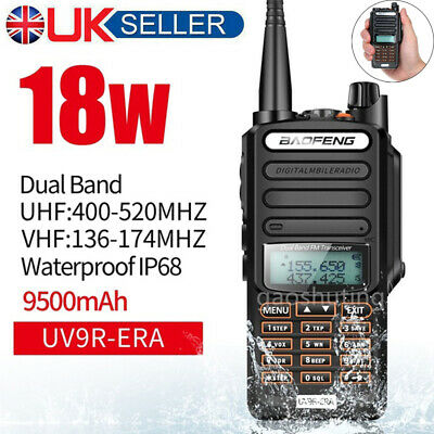 Baofeng UV-9R-ERA 18W VHF UHF Walkie Talkie Dual Band Handheld 2 Way Radio 50km • 33.99£