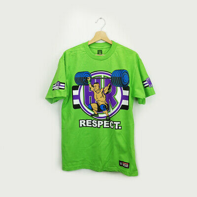 WWE John Cena Respect Green T-Shirt Never Give Up Large Size  • 18£