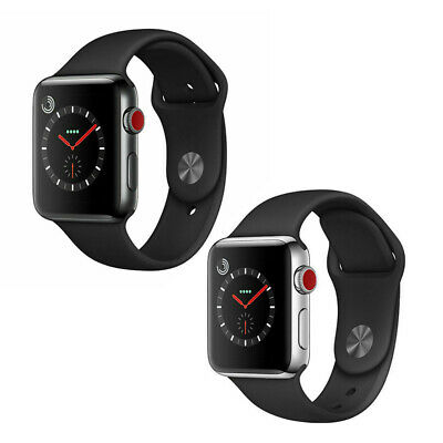$ CDN297.35 • Buy Apple Watch Series 3 42mm GPS Cellular Stainless Steel Or Space Black Smartwatch